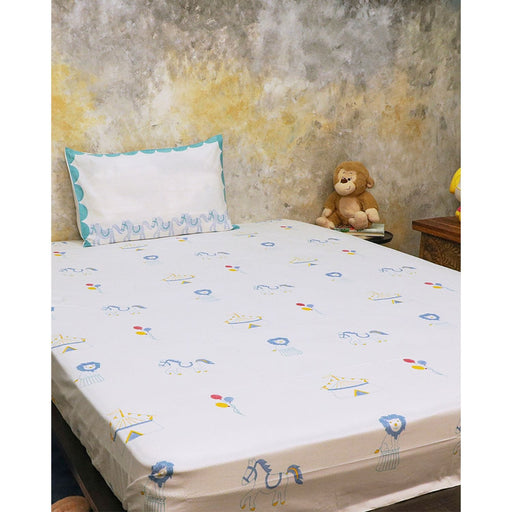 The Nestery : Masaya - Bedding Set : I Am Going To The Circus - Teal