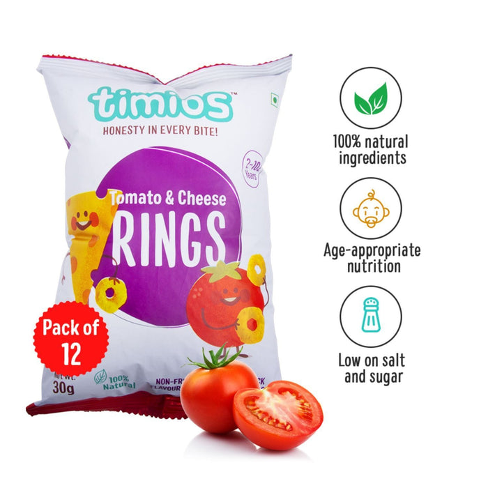 SNACKS TOMATO AND CHEESE RINGS - PACK OF 12