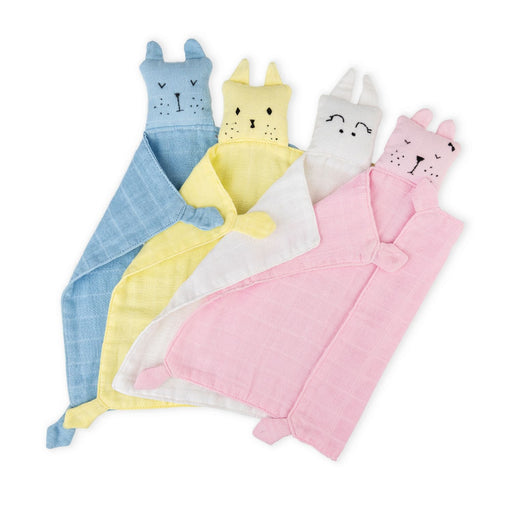 The Nestery : Bobtail - Muslin Snuggle Napkins - Pack Of 2