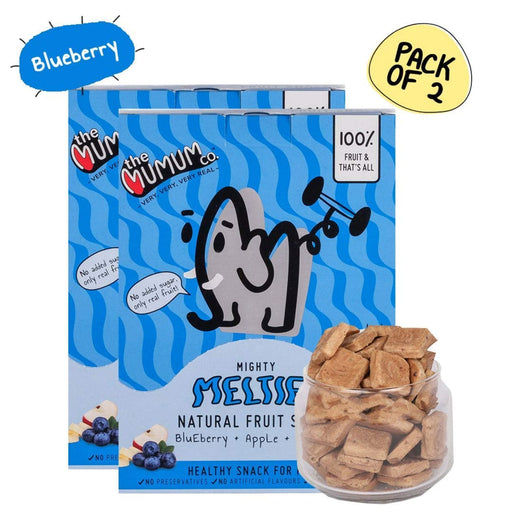 The Nestery :The Mumum Co. - Mighty Melties - Blueberry Apple Banana - Pack Of 2 Boxes (40Gm X 2)
