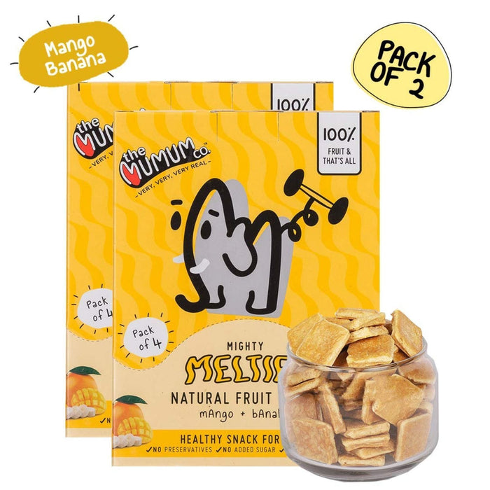 The Nestery :The Mumum Co. - Mighty Melties - Mango Banana - Pack Of 2 Boxes (40Gm X 2)