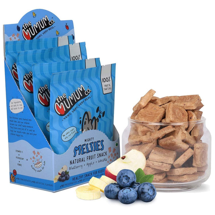The Nestery :The Mumum Co. - Mighty Melties - Combo- Mango Banana, Blueberry Apple, Strawberry Banana - Pack Of 2 Boxes (40Gm X 2)