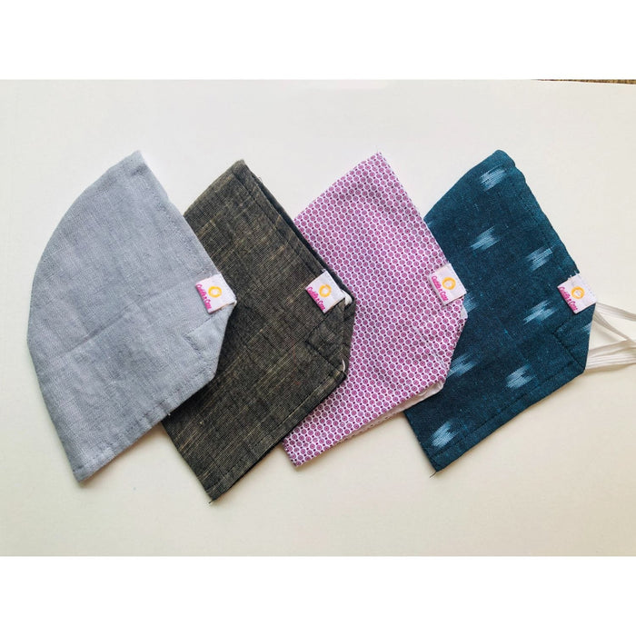 Cloth Face Mask For Men (Assorted) - Set Of 3