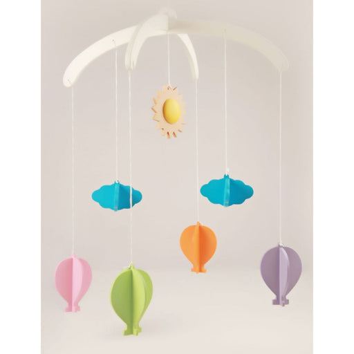 The Nestery: Ariro Wooden Crib Mobile - Hot air Balloon