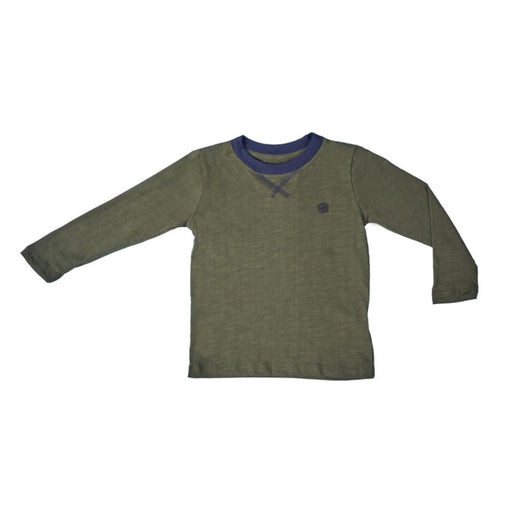 The Nestery : Greendigo - Playtime Tshirt With Full Sleeves - Moss