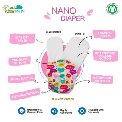 The Nestery: Kindermum - Nano Pro All-In-One Diaper - Motherly Love