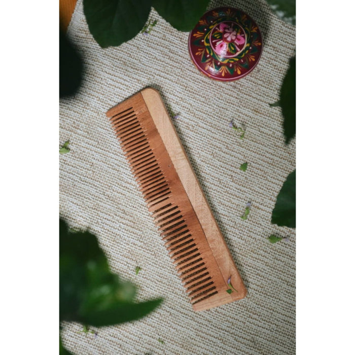 The Nestery :Almitra Sustainables - Neem Comb - Small And Big (Pack Of 2)