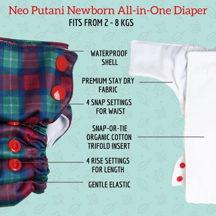 The Nestery : Bumpadum - Neo All In One Diaper - Whimsea