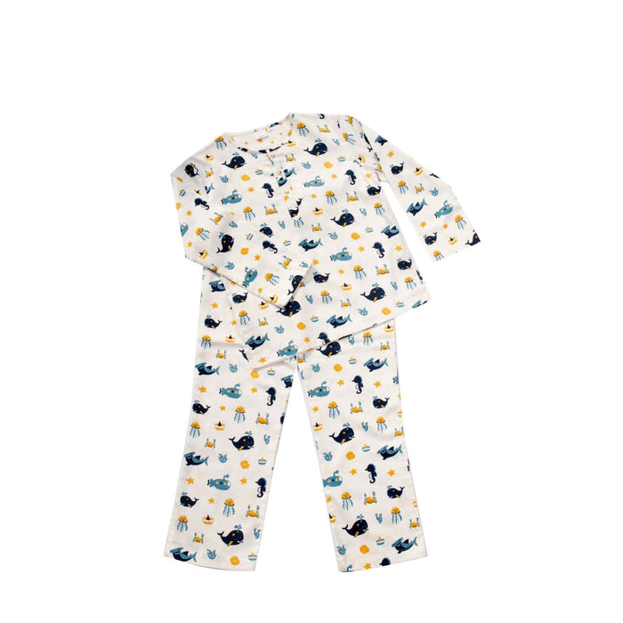 Organic Mommy And Baby PJ's Water Collection - Twinning Set
