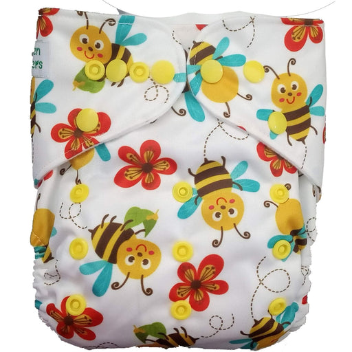 The Nestery : Green Diapers - Gd Pocket Diaper - Beeloved