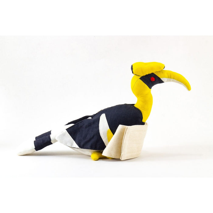 The Nestery : Pashoo Pakshee - Curtain Holder: Pied Hornbill