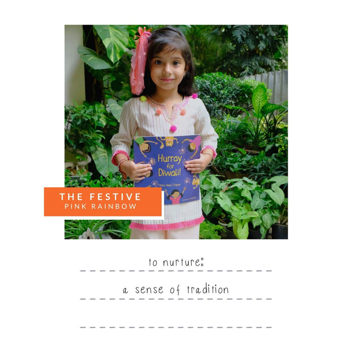 The Nestery : Oriori Kids - Pink Rainbow Festive Box - Girls