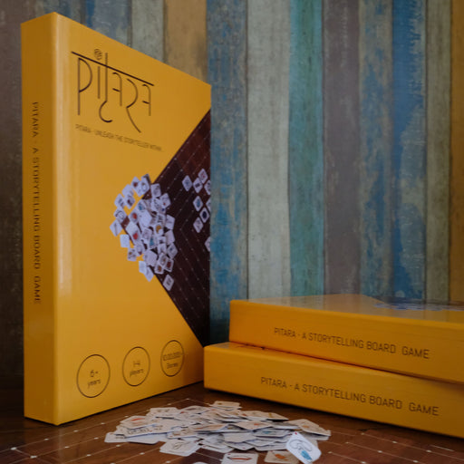The Nestery presents Pitara, many stories in one box. Story telling boardgame for kids
