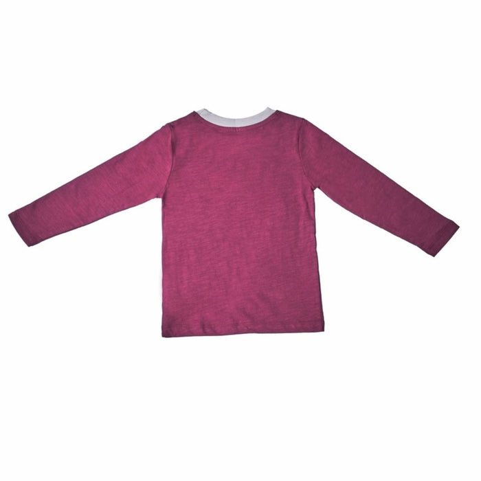 The Nestery : Greendigo - Playtime Tshirt With Full Sleeves - Plum