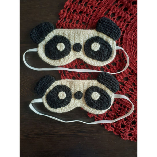 The Nestery : Plumtales - Handmade Amigurumi - Panda Sleep Eye Mask