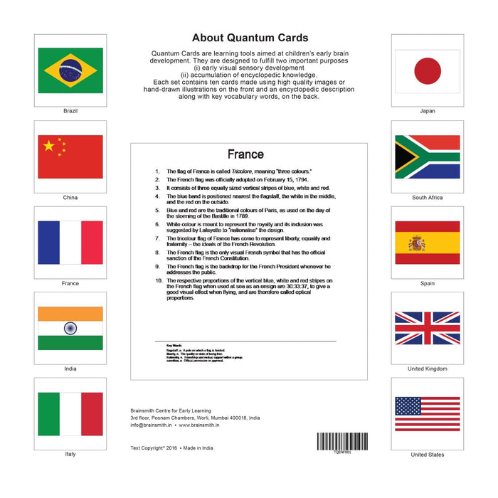 The Nestery: Brainsmith - Quantum Cards - National Flags Set I