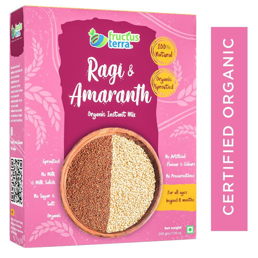 The Nestery : Fructus Terra - Organic Ragi And Amaranth Instant Porridge Mix - Rajgira