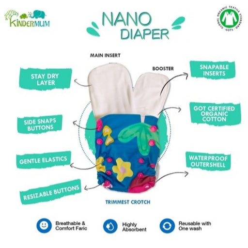 The Nestery: Kindermum - Nano Pro All-In-One Diaper - Random Jungle