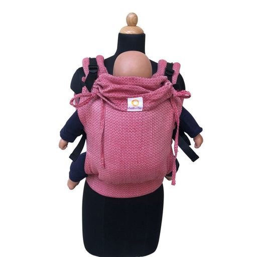 The Nestery: Cuddle N Care - Red Hearts (Classic Baby Carrier)