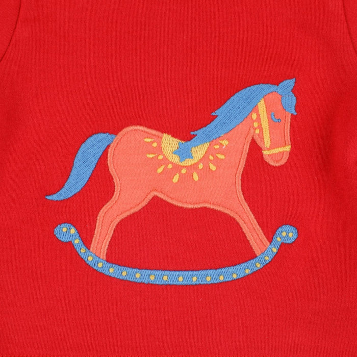 The Nestery : Greendigo - Tshirt And Shorts Set - Rocking Horse