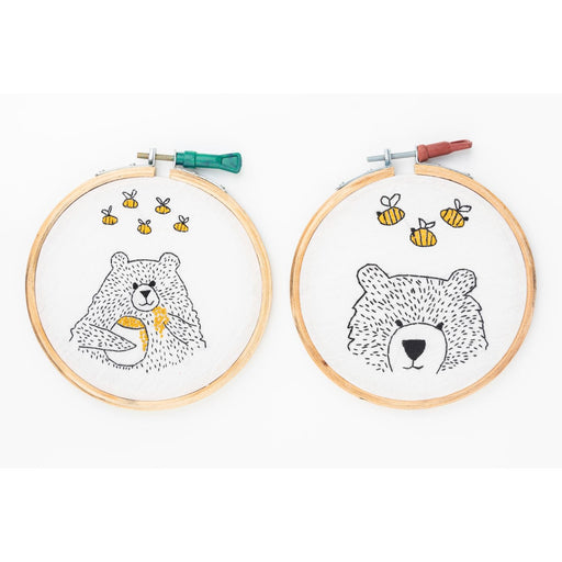 The Nestery : Bobtail - Room Décor Embroidery Hoops - Bear With Bees
