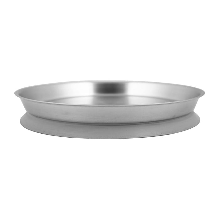 Stainless Steel Plate With Silicone Suction - Grey