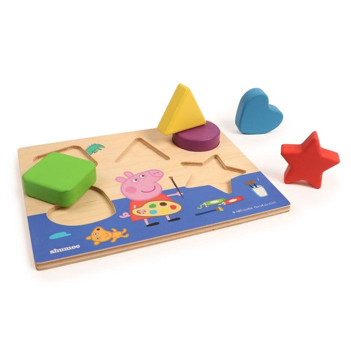 The Nestery: Shumee - Peppa Pig'S Wooden Shape Sorting Puzzle Board