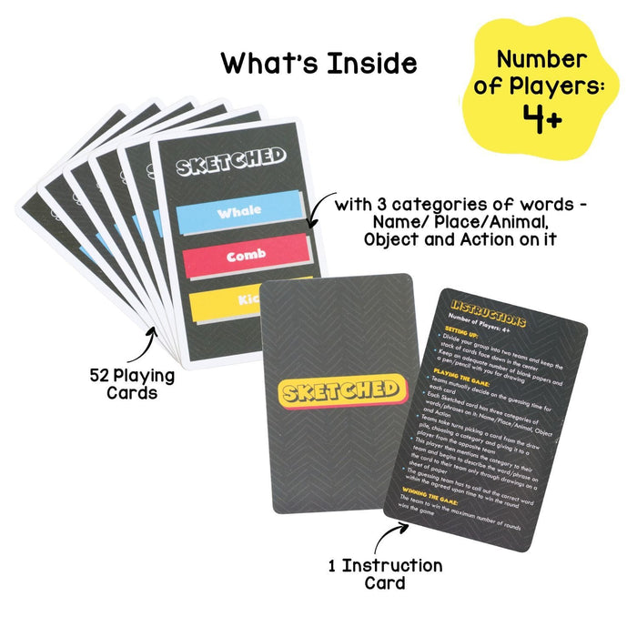 SKETCHED: FAST PACED CARD GAME BASED ON CREATIVITY