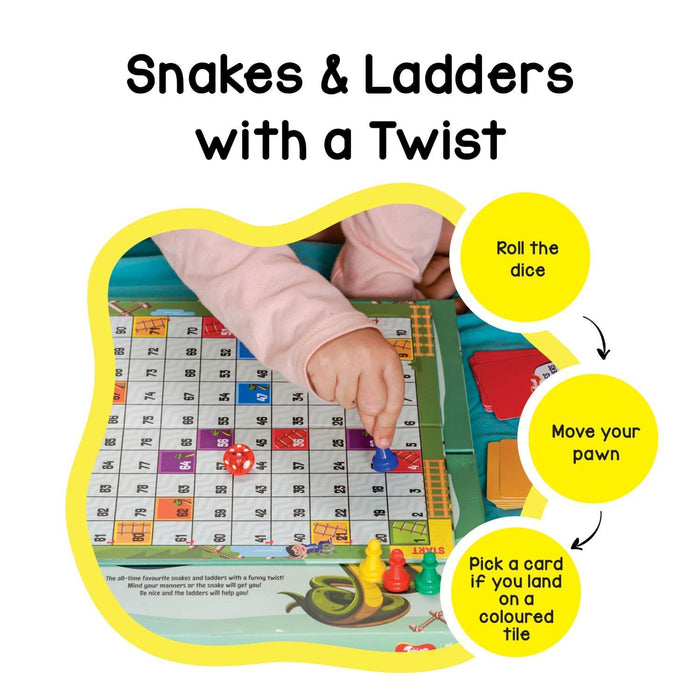 SNAKES AND MANNERS - SNAKES AND LADDERS WITH A TWIST