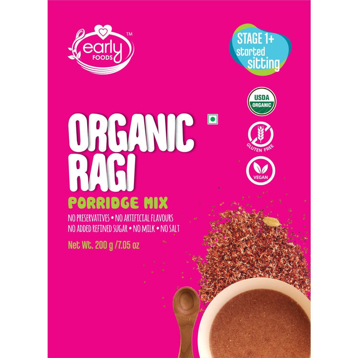Porridge Mix - Organic Sprouted Ragi Porridge - Plain - [200 Gms]