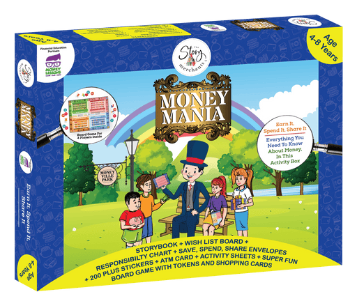 The Nestery brings a fun, colourful board game with accessories to teach children about money managing and responsibility