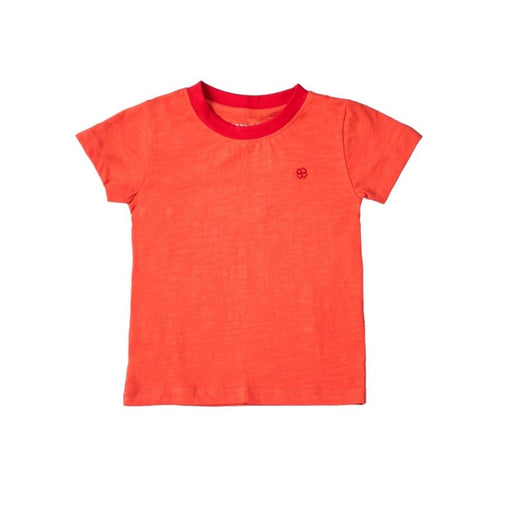 The Nestery : Greendigo - Playtime Tshirt With Half Sleeves - Tangarine