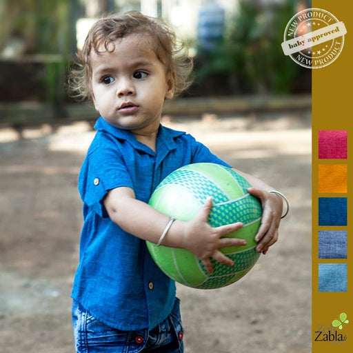 The Nestery presents soft comfortable cotton shirts in soothing colours by Zoli Zabla & More for newborns to toddlers