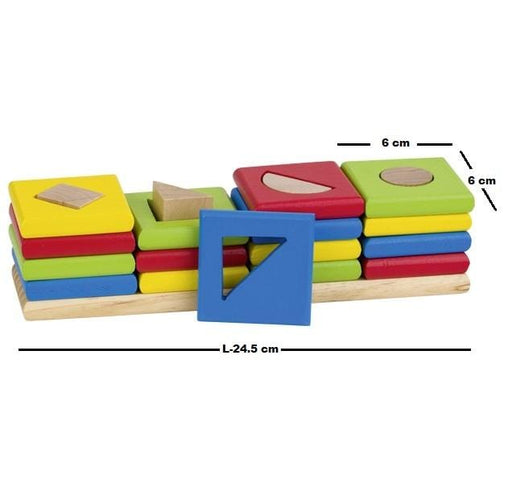 The 4 towers shapes and colours sorting game