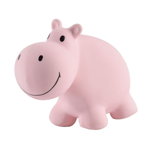 "The Nestery: TIKIRI - ""MY ZOO ANIMALS"" COLLECTION - HIPPO NATURAL RUBBER TOY"