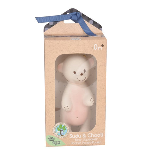 The Nestery: TIKIRI - SUDU BEAR NATURAL RUBBER RATTLE