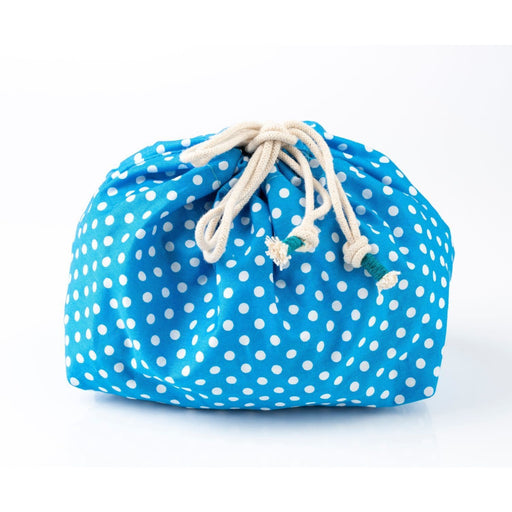 The Nestery : Bobtail - Washable Baby Travel Kit -  Blue White Polka