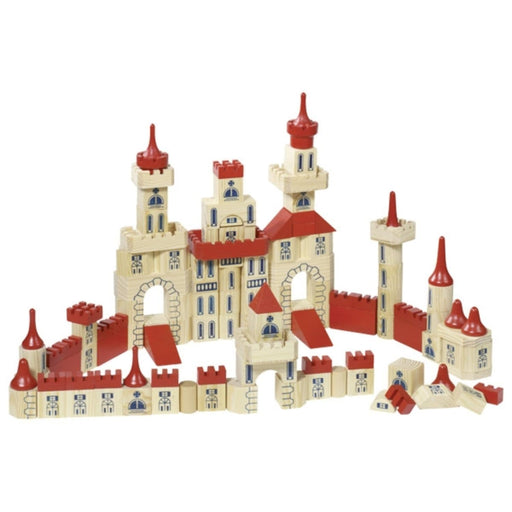 The Nestery : Toyroom Toys - Wooden Castle Building Bricks