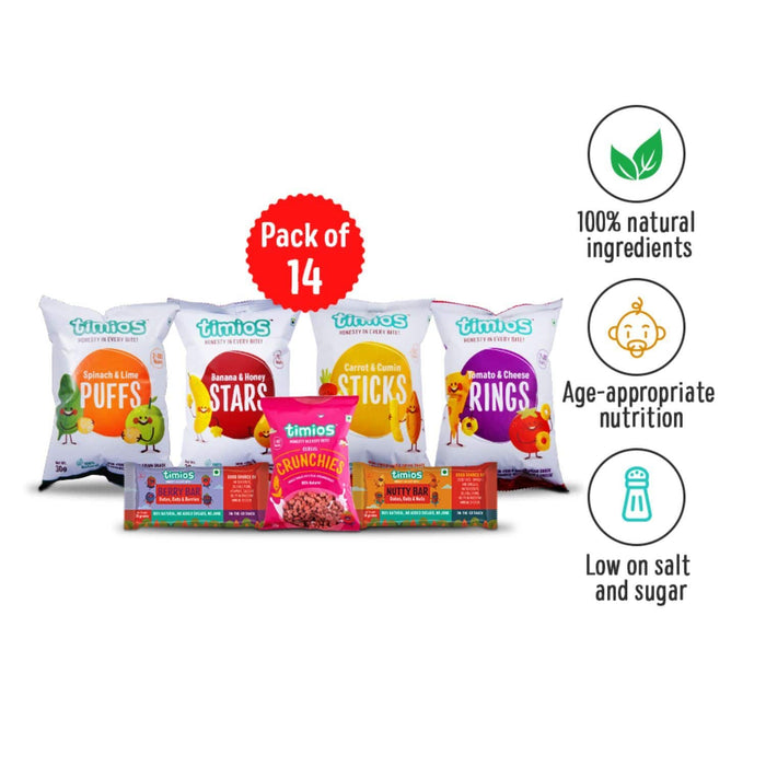 WEEKLY SNACKS FOR KIDS - PACK OF 14