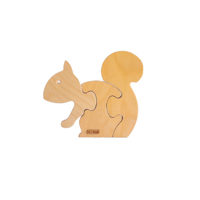 The Nestery: ALT Retail - 3 Piece Chunky Wooden Puzzle - Squirrel