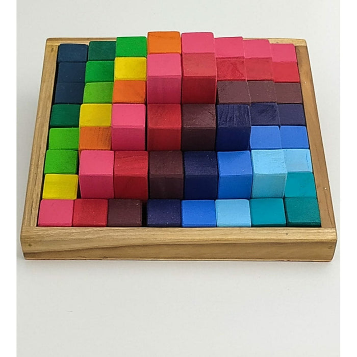 The Nestery : Chaya Nisarga - Wooden Cubes Set (64 Pieces)