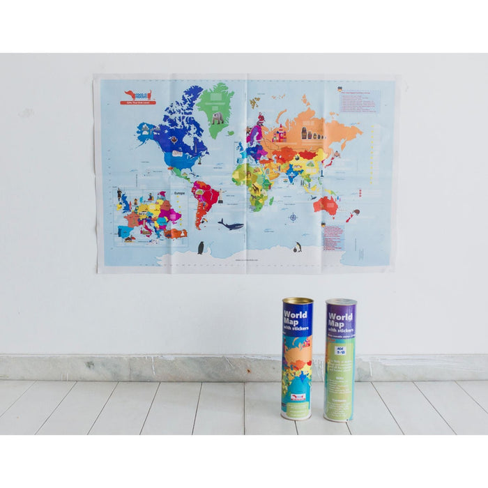 Interactive World Map With Stickers (Activity Kit)