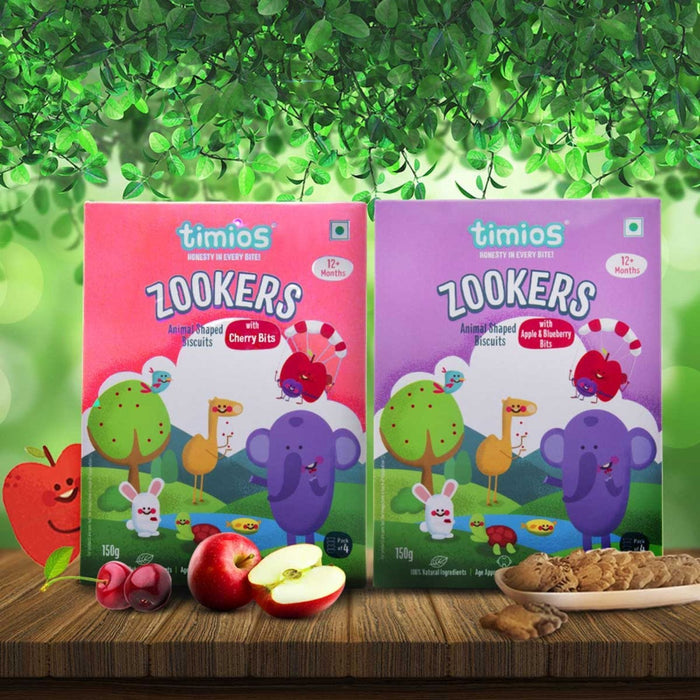 The Nestery : Timios Zookers - Apple and Blueberry and Cherry
