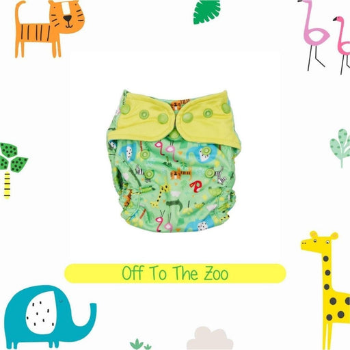 The Nestery : A Toddler Thing - Newborn Cover Diaper - Off To The Zoo