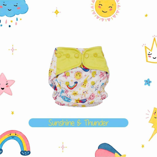 The Nestery : A Toddler Thing - Newborn Cover Diaper - Sunshine And Thunder