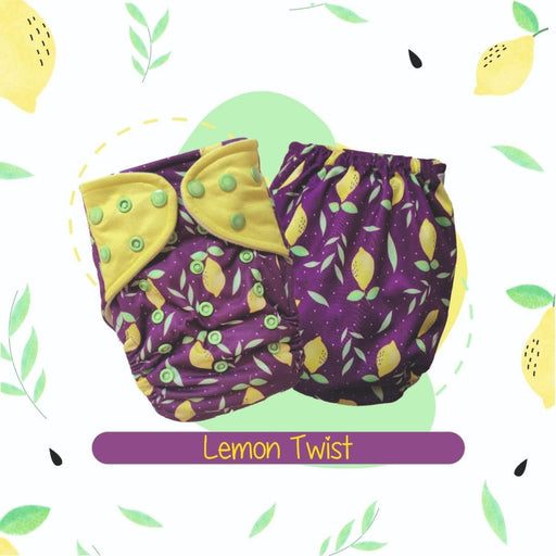The Nestery: A Toddler Thing - Ultra Trim Cover Diaper (Regular Size Diaper) - Lemon Twist