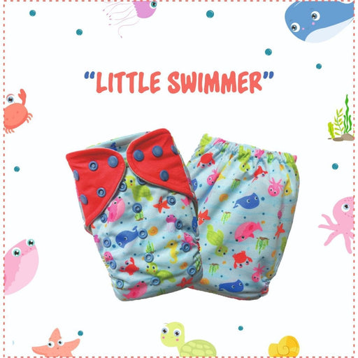 The Nestery: A Toddler Thing - Ultra Trim Cover Diaper (Regular Size Diaper) - Lil Swimmers