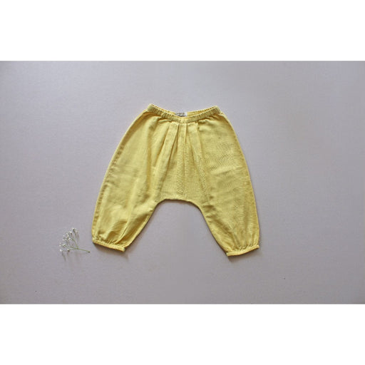 The Nestery : Aagghhoo - Puff Up Pleated Pant - Khadi Yellow