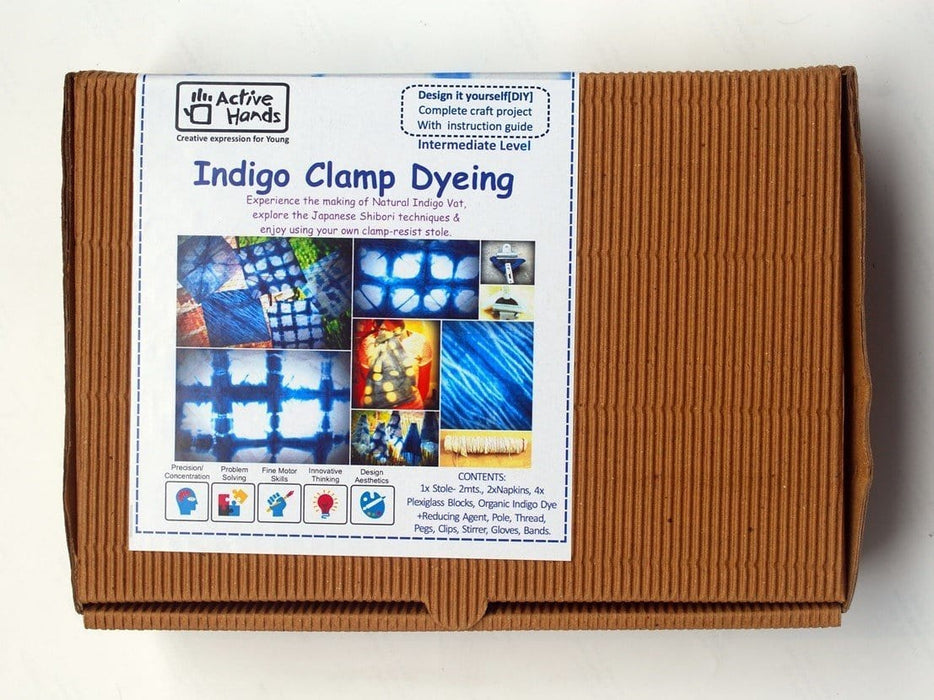The Nestery: Active Hands - Diy Kits - Indigo Clamp Dyeing