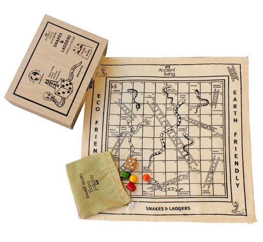 The Nestery : Ancient Living - Snake And Ladder - Board Game (Raw Silk)
